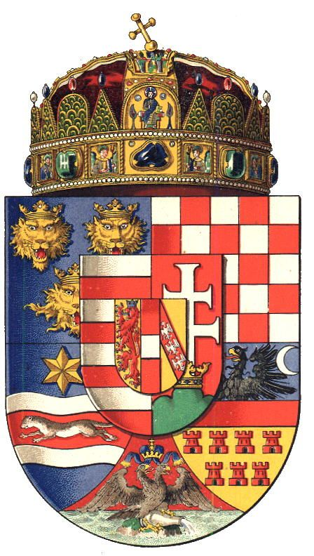Kingdom of Hungary, by Hugo Gerhard Ströhl, 1890. -- The coat of arms show on…