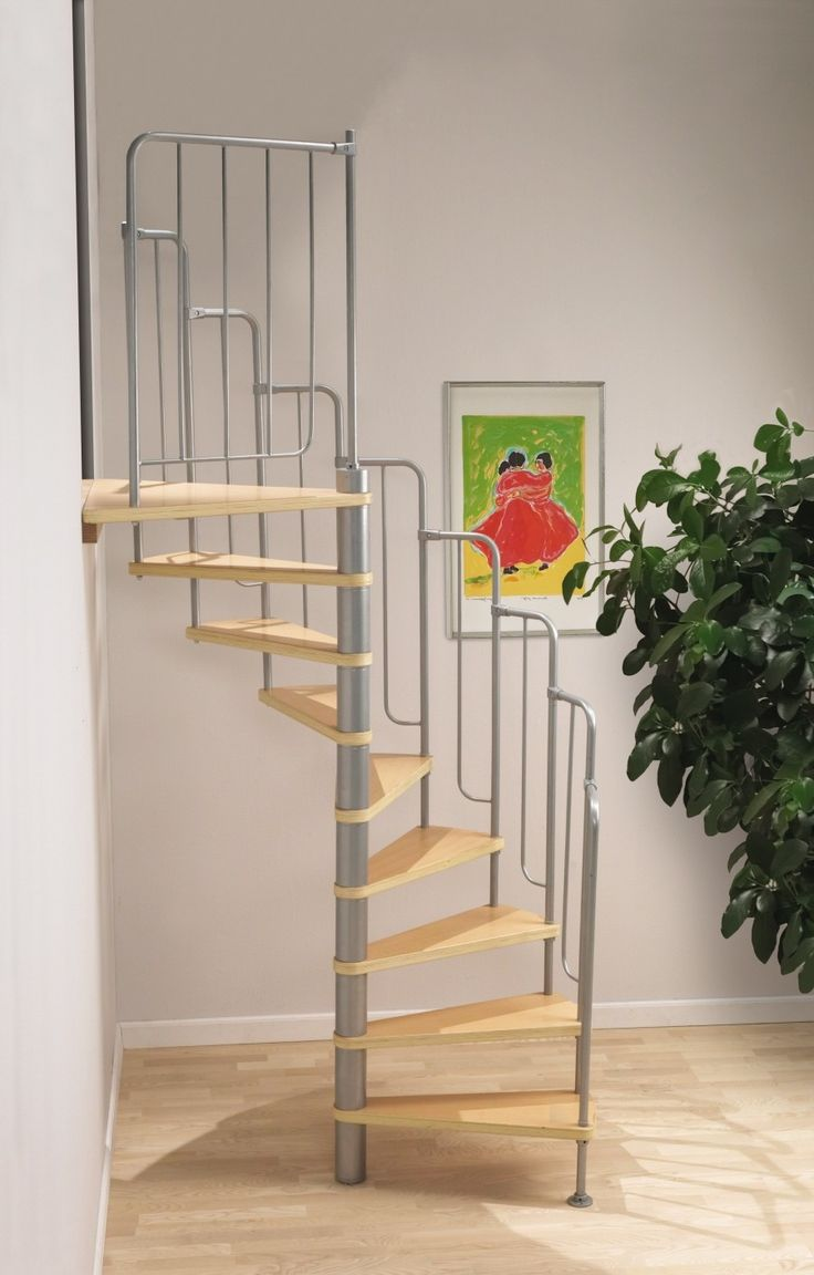 Dolle Barcelona Spiral Stair Kit -- The Barcelona has a 1400mm diameter and it can be constructed to ascend clockwise or anticlockwise. With beech multiplex treads and a painted dark grey metal tubular balustrade positioned on the spiral's outer edge, the Barcelona makes for a stylish stair kit. Unit is complete with 12 treads plus a landing tread and suits a floor to floor height up to 2920mm. # £475.00 + VAT