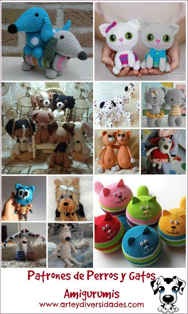 Diversidades: patrones gratis de crochet, amigurumi y manualidades: PERROS Y GATOS AMIGURUMIS, NUEVOS PATRONES