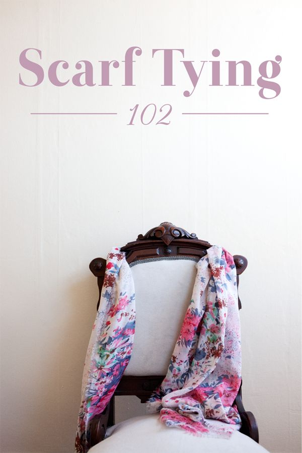 Scarfs Tying Fashion Scarf Tying