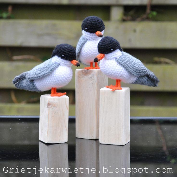 Grietjekarwietje.blogspot.com: Haakpatroon Visdief / Crochet Pattern Common tern