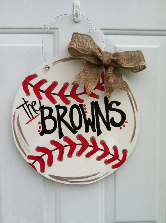 Baseball Door Decor Every baseball fan needs one by NXTleveldesign, $35.00