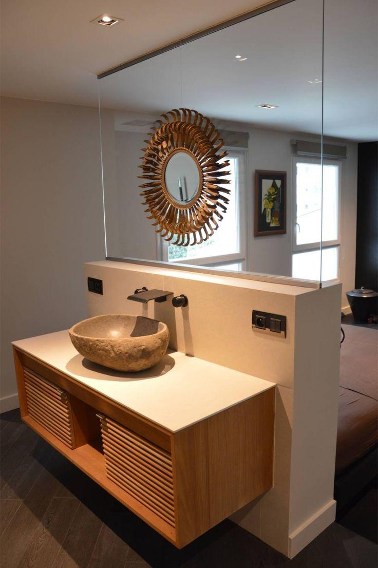 Chambre avec salle de bain et dressing for Salle de douche ouverte sur chambre