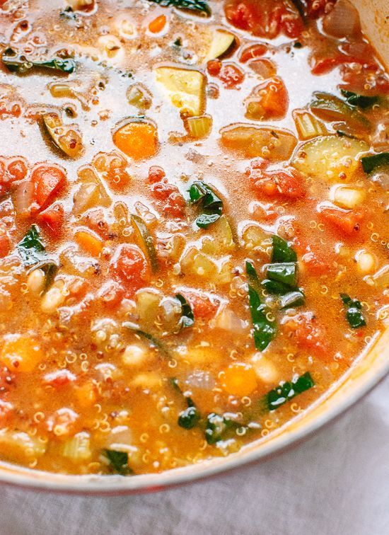 Healthy vegetable soup with kale and quinoa - cookieandkate.com