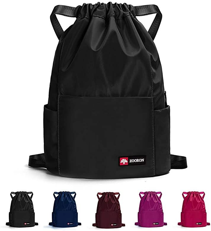 Drawstring Backpack Day Bags Sport Gym Sack