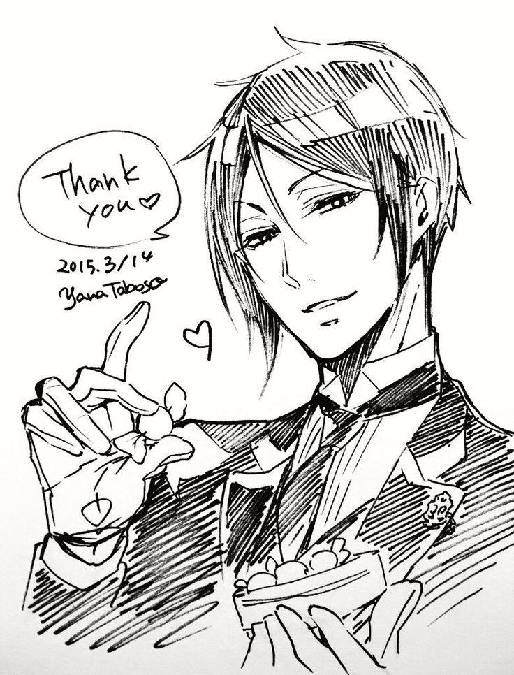 kuroshitsuji sebastian michaelis セバスチャン「今年もたくさんのチョコレートをありがとうございました」