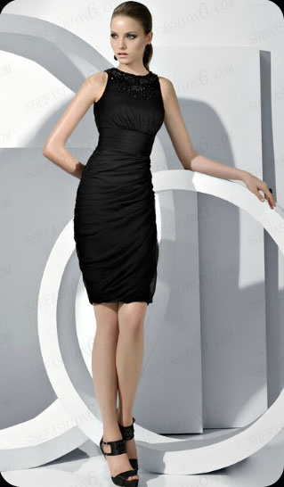 http://www.shefashion6.com  Item 2012SP0025   2012 Sleeveless Knee Length Chiffon Party Dress ; Real top fabric, competitive price!!!