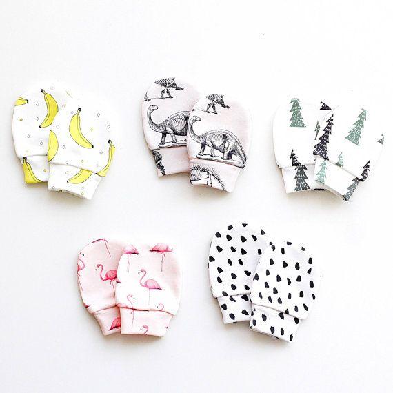 Organic cotton baby mittens, baby mittens, mittens, no scratch mittens