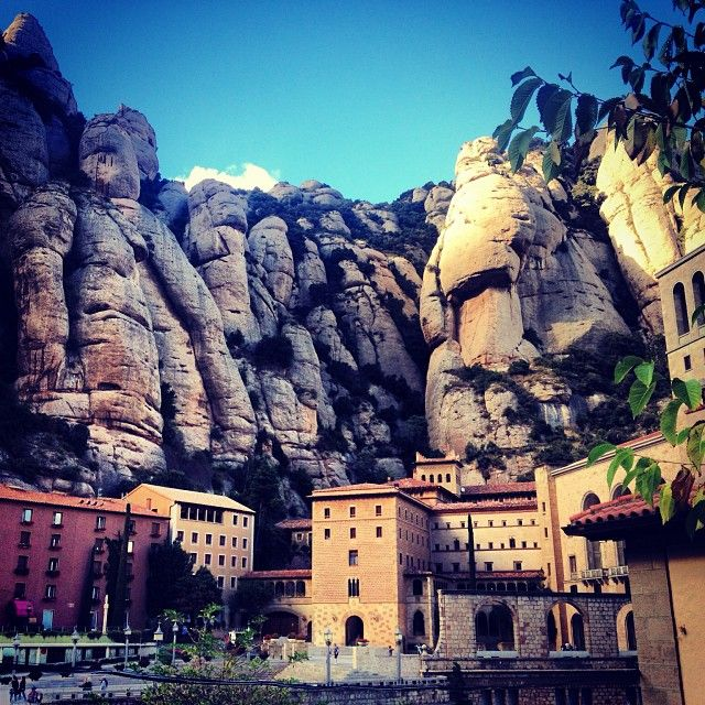 Montserrat - Catalonia, Spain - they look like giants looking over the city