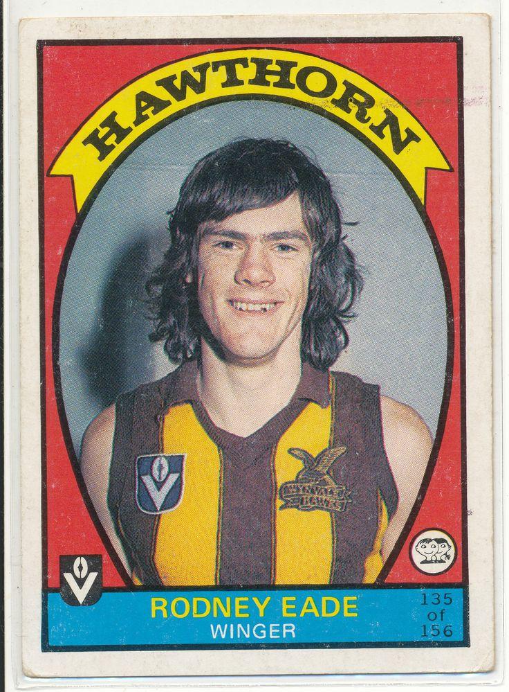 SCANLENS VFL AFL 1978 FOOTY CARD RODNEY EADE HAWTHORN HAWKS 135 FOOTBALL au.picclick.com