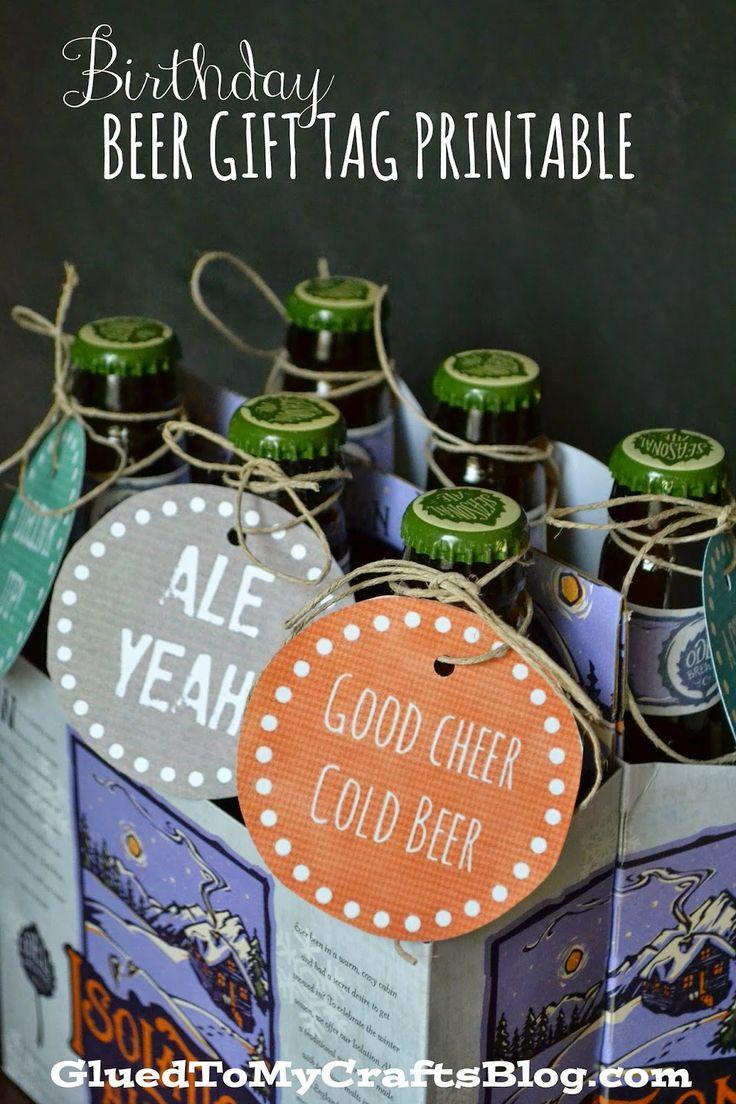 Craft beer gift box - Birthday Beer Gift Tag Printable