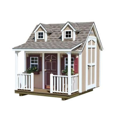 8 x 9 39 playhouse with porch dormers and small loft 3349 for Loft kits home depot