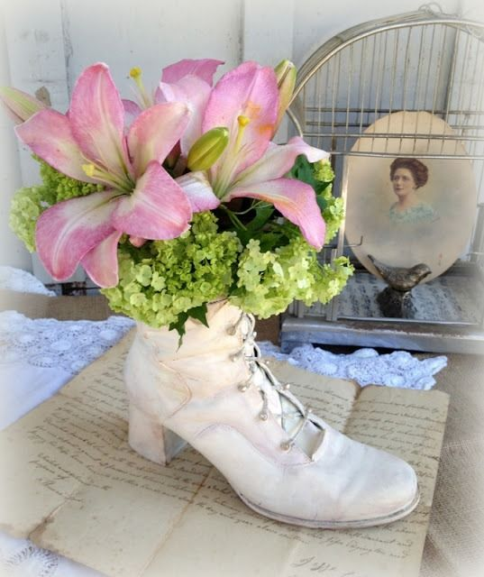 How to make a victorian boot planter