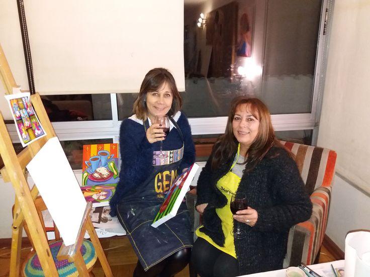 """Gema y Viviana... a juzgar por los lindos cuadros que han hecho últimamente... tienen un """"ingrediente secreto"""" para inspirarse... ¡eso no se los enseñé yo! jajaja"""