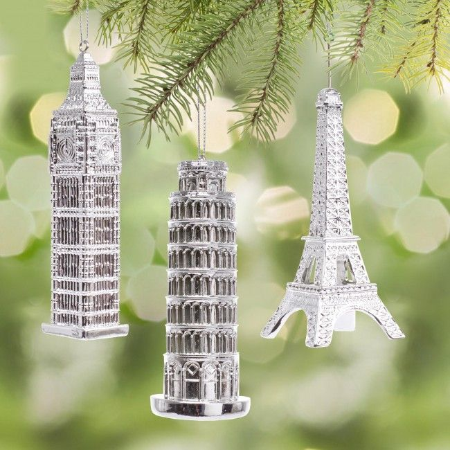 Can't afford to visit these great landmarks on your Christmas vacation, hang them on your Christmas tree instead.