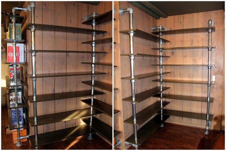 Wall Mounted Corner Bookshelf