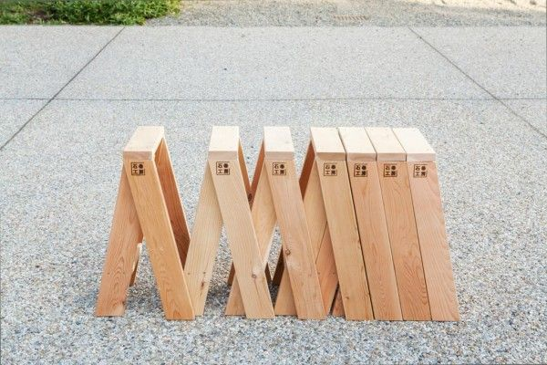Works as a stool but can be put together to make a bench