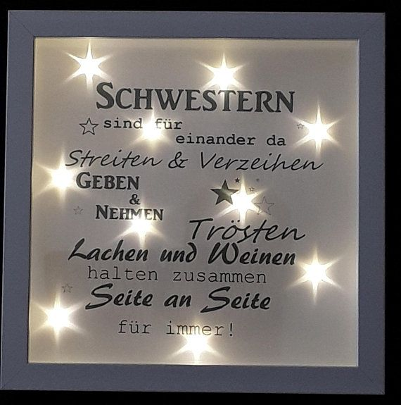 Picture frame illuminated sisters gift 518/27 #beleuchtung