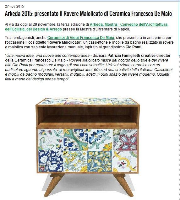 #roveremaiolicato della #ceramicafrancescodemaio su Ceramicworldweb Tratto da http://www.ceramicworldweb.it/DocumentList.aspx?documentI