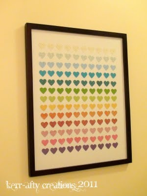 Rainbow Heart Punch Art. Rainbow WallRainbow RoomRainbow HeartPaper ...