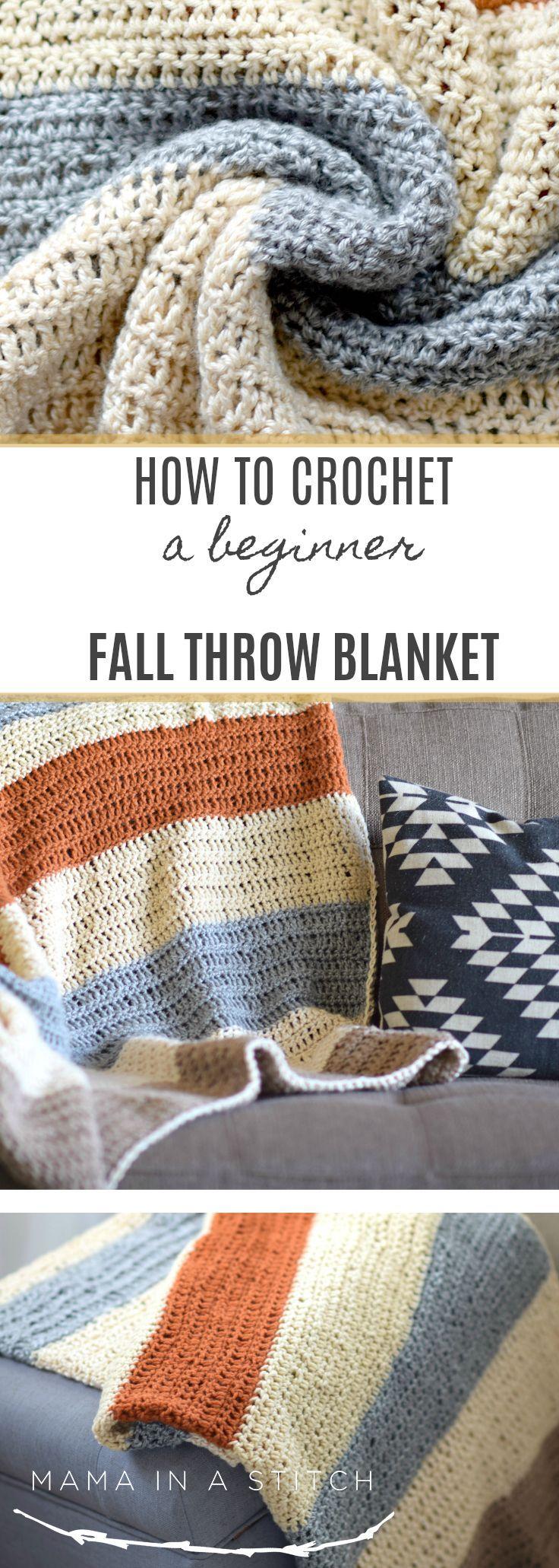 How To Crochet A Beginner Fall Throw Blanket – Dec…