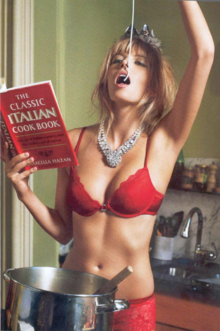 They say every girl needs lacy red lingerie ...and spaghetti sauce?