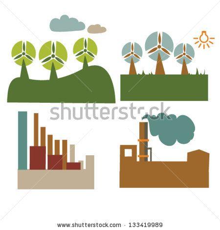 Four environmental friendly factories by shna, via Shutterstock