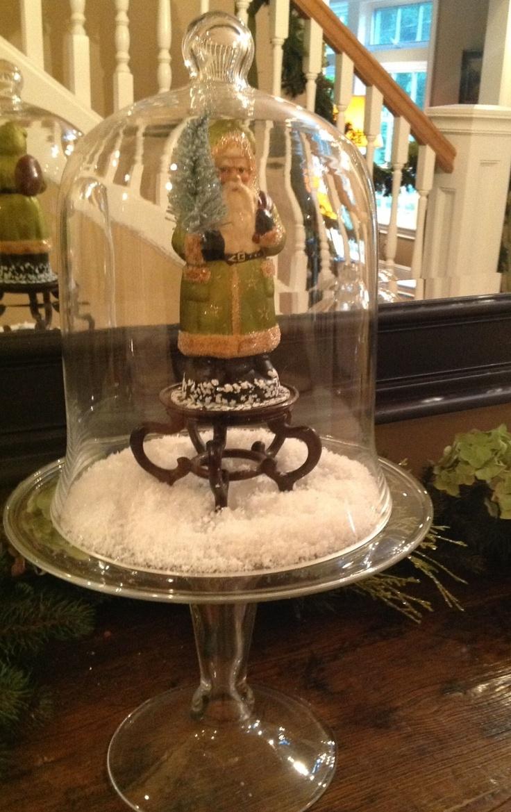 Best christmas cloche vase images on pinterest