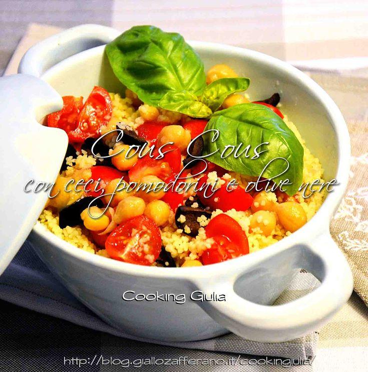 Cous Cous con ceci, pomodorini e olive nere