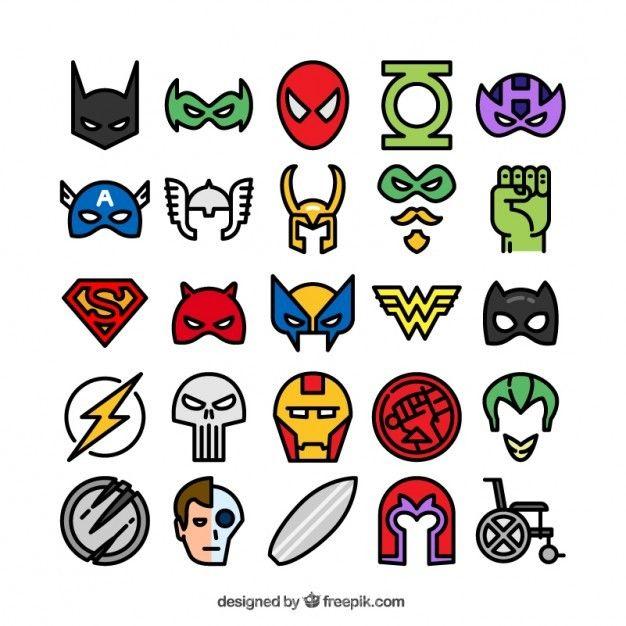 Icons Marvel Dc Comic Superhero Villain Border Tcpd