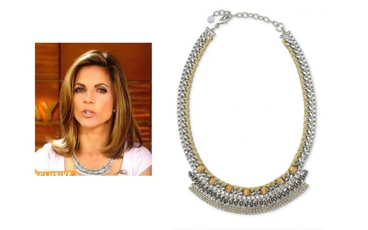 natalie morales wearing the cassady collar necklace by