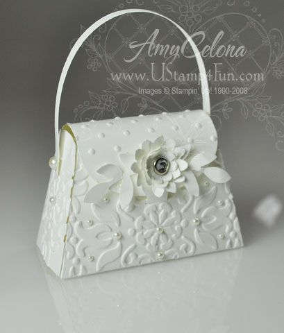 Wedding purse made with the Petite Purse die! Click the image for details