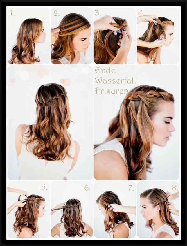 Unglaublich Einfache Frisuren Für Schulterlange Haare Ideen Beste