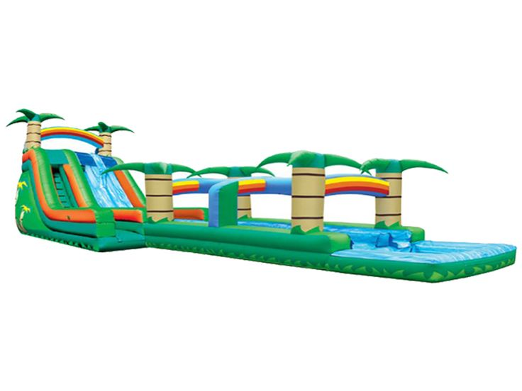 Buy cheap and high-quality Inflatable Dual Lane Tropical Water Slide. On this product details page, you can find best and discount Inflatable Slides for sale in 365inflatable.com.au