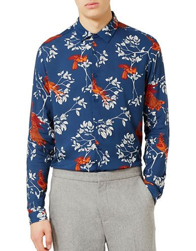 Men | Men  | Japanese Bird Print Casual Classic Fit Shirt | Hudson's Bay