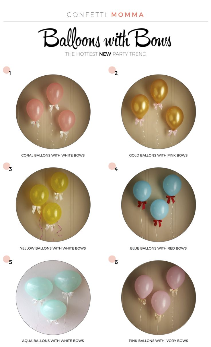 Balloons & Bows - NEWEST TREND! https://www.etsy.com/shop/courtneyorillion/search?search_query=balloons&order=date_desc&view_type=gallery&ref=shop_search http://www.confettimomma.com/?category=Balloons+%26+Bows