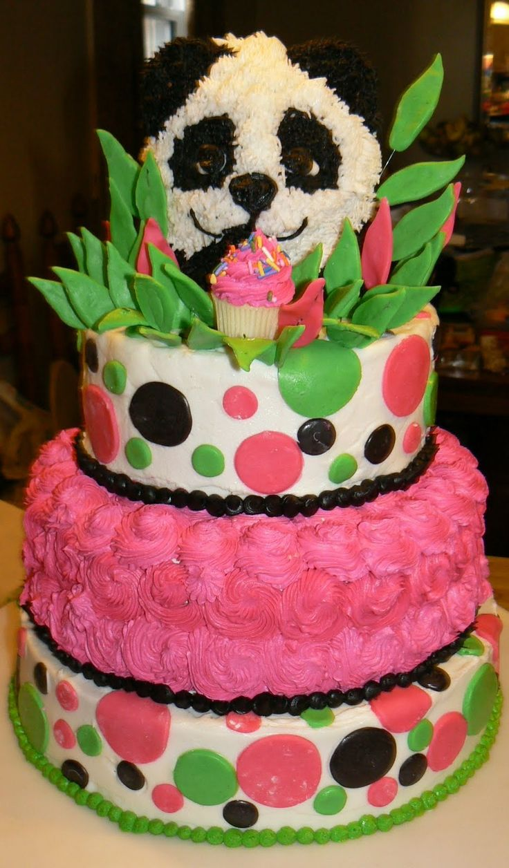 teen birthday cakes ocean themed 12 girls | Kelly Roberts Designs: Panda Birthday Cake