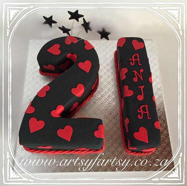 21st Number Cake #21stnumbercake