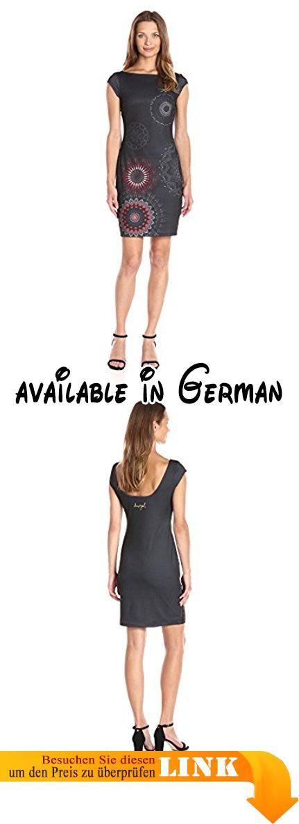Desigual Damen Kleid VEST_PICHI Grey Grau (Gris Vigore Oscuro 2043), 40 (Herstellergröße: XL). A-Linie #Apparel #OUTERWEAR