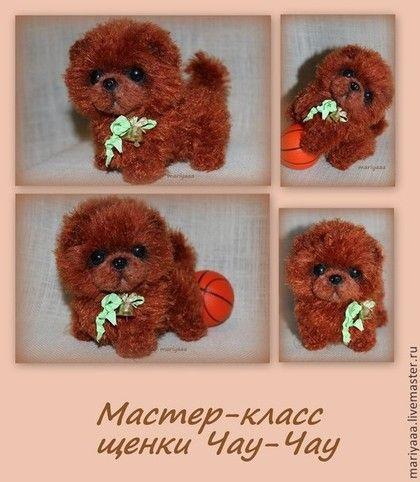 Вязание ручной работы. Ярмарка Мастеров - ручная работа Мастер-класс щенки чау-чау от mariyaaa. Handmade.