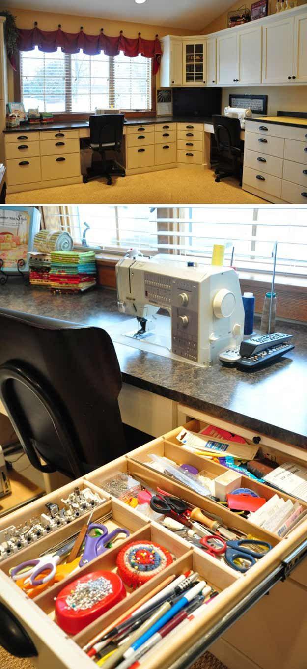 Sewing Room Organization Inspiration | 15 Sewing Room DIY Organization