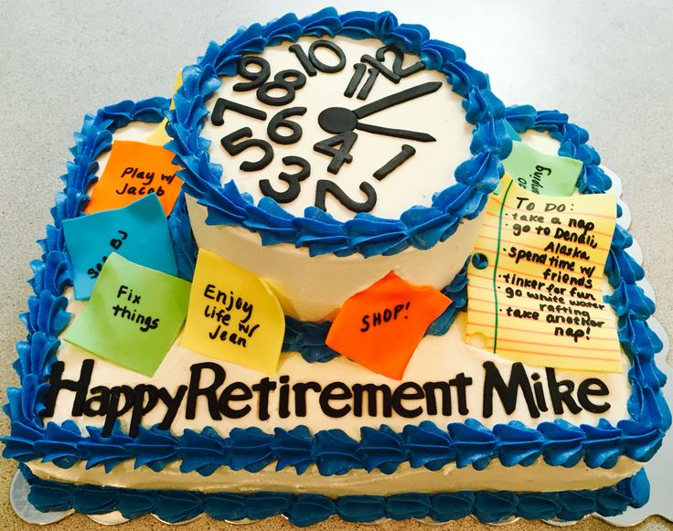 Clock retirement cake Visit Bubba & Bellie's Creative Design on Facebook