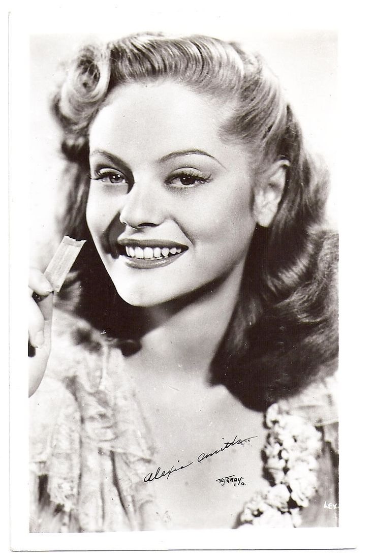 Alexis Smith 1940s Hollywood Movie Star Black White Photo Postcard | eBay