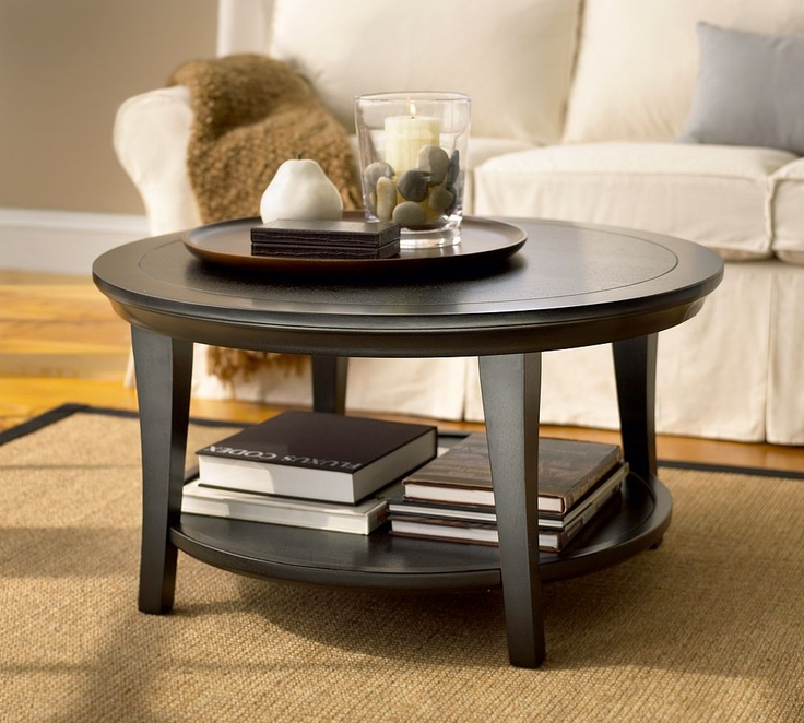 metropolitan round coffee table accessorize furniture pinterest colors pottery barn. Black Bedroom Furniture Sets. Home Design Ideas