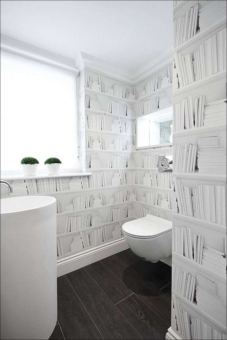 25 best ideas about papier peint toilette on pinterest - Papier peint toilette ...