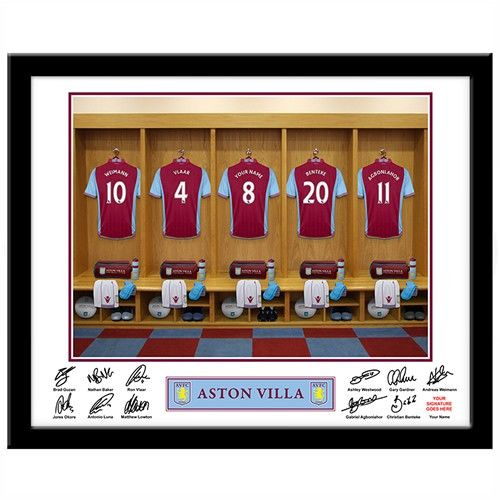 Personalised Aston Villa Dressing Room Print  from Personalised Gifts Shop - ONLY £29.99