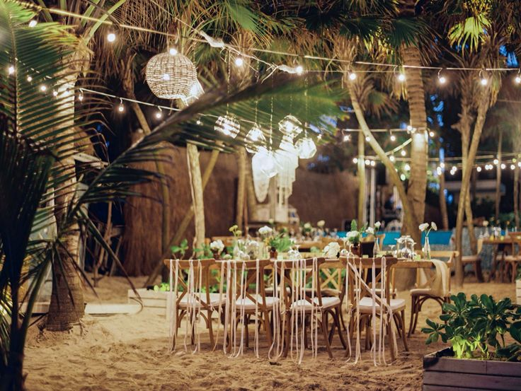 Be Tulum Wedding Setup By Xochitl