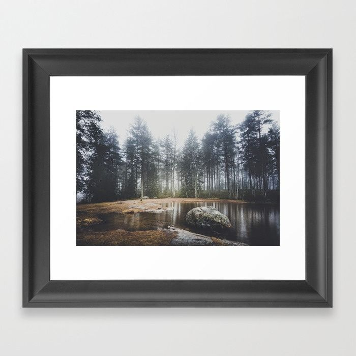 Moody mornings Framed Art Print by HappyMelvin. #nature #wanderlust #landscape #forest #framedprints