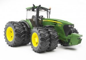 a bruder 03052 john deere 7930 tractor with twin wheels tyres gift box official