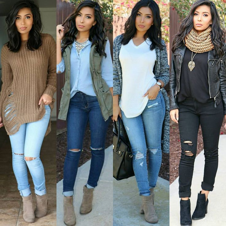 """@itsmsmonica on Instagram: """"A few of u asked me for more #casual looks w Booties ☺ here's a few from the last few weeks...Which one is your fav? """""""